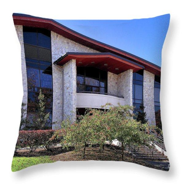 Upj Student Union Throw Pillow by John Waclo