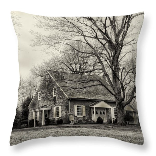 Upper Dublin Meetinghouse in Sepia Throw Pillow by Bill Cannon