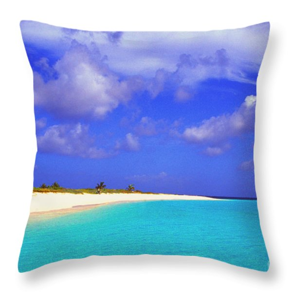 Upper Shoal Bay Throw Pillow by Thomas R Fletcher