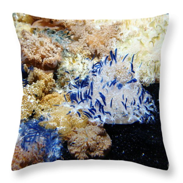 Upside Down Jelly Fish 5D24947 Throw Pillow by Wingsdomain Art and Photography