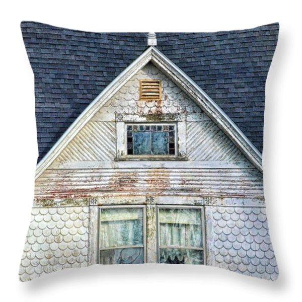 Upstairs Windows in Old House Throw Pillow by Jill Battaglia