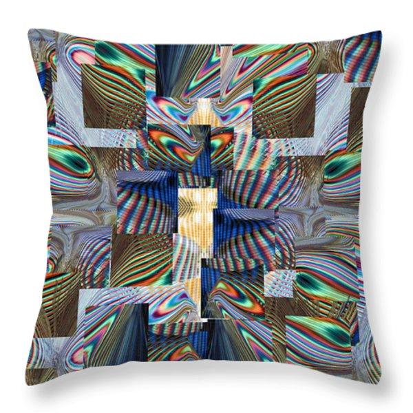 Upstream Throw Pillow by Tim Allen