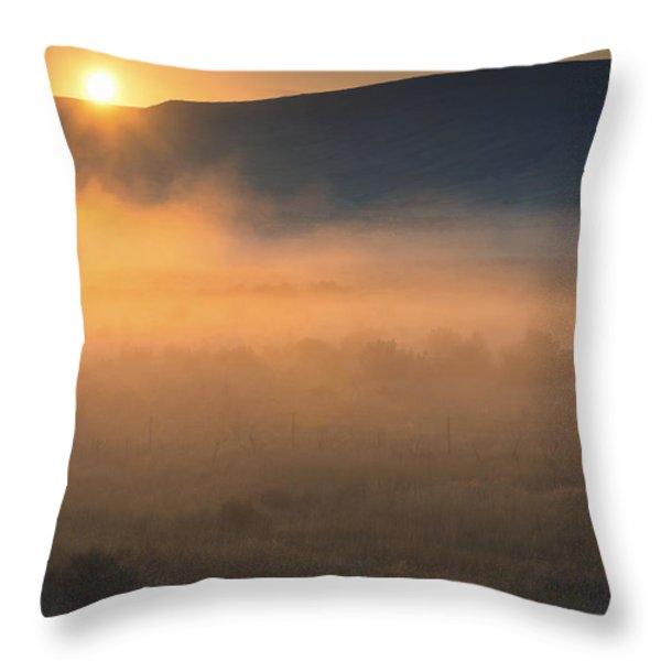 Uptanum Dawning Throw Pillow by Mike  Dawson