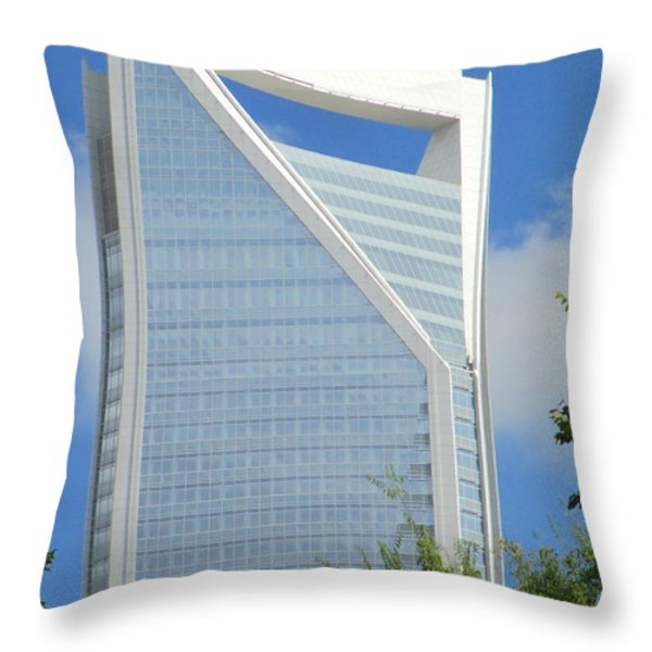 Uptown Charlotte 2 Throw Pillow by Randall Weidner