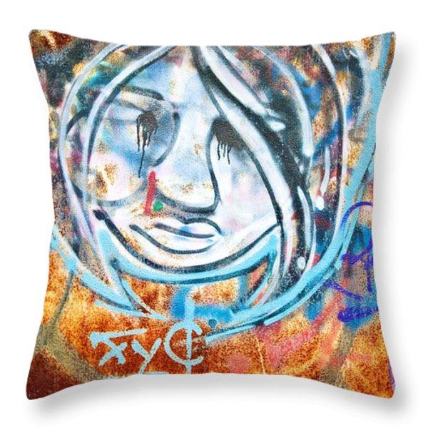 Urban Art Throw Pillow by Scott Pellegrin