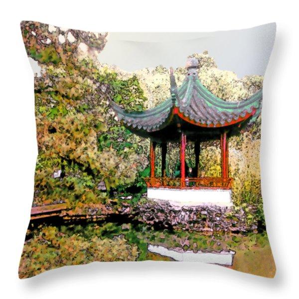 Urban Calm Throw Pillow by Linda  Parker