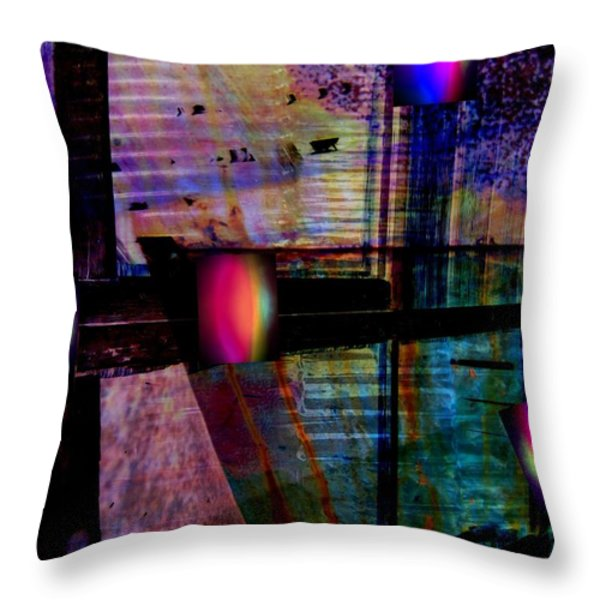 Urban Complexities Throw Pillow by Shirley Sirois
