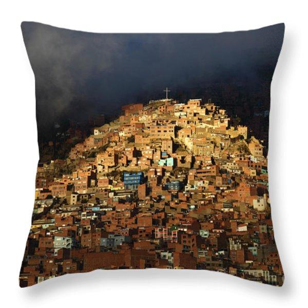 Urban Cross 2 Throw Pillow by James Brunker
