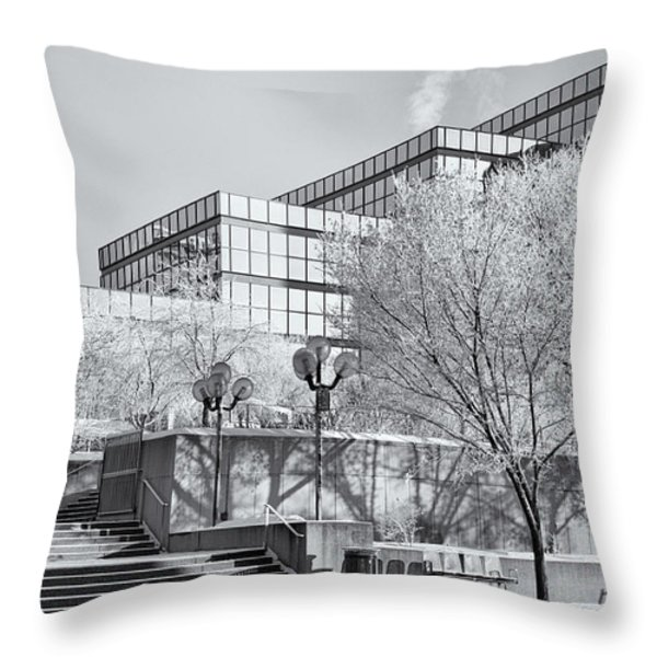 Urban Hoar Frost Throw Pillow by Trever Miller
