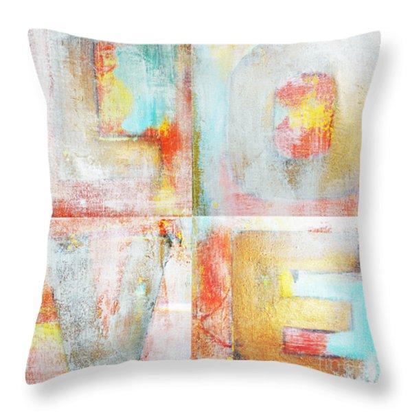 Urban Love Tiles Throw Pillow by Anahi DeCanio
