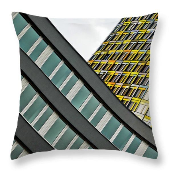 urban rectangles III Throw Pillow by Hannes Cmarits
