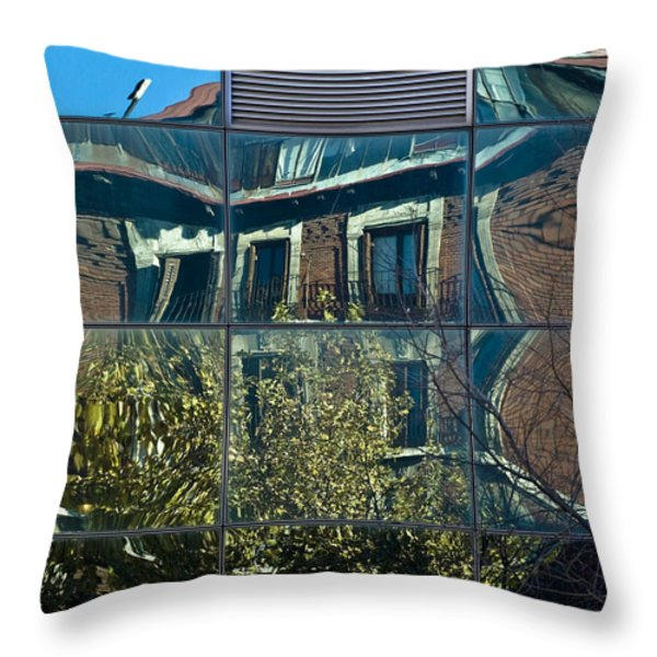 Urban Reflections Madrid Throw Pillow by Frank Tschakert