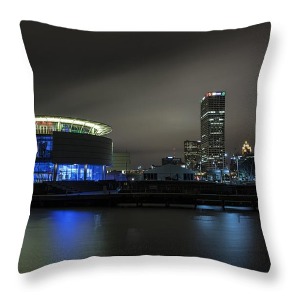 Urban Sapphire Throw Pillow by CJ Schmit