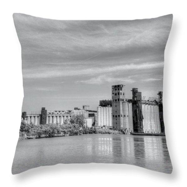 Urban Scene Throw Pillow by Kathleen Struckle