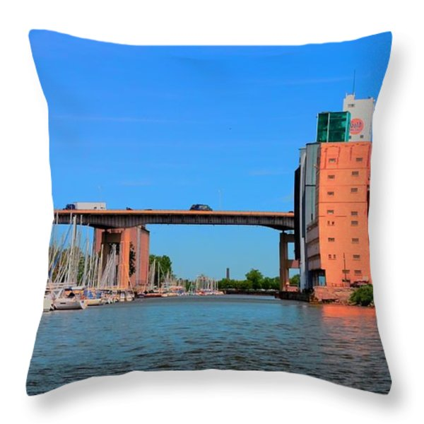 Urban View Throw Pillow by Kathleen Struckle