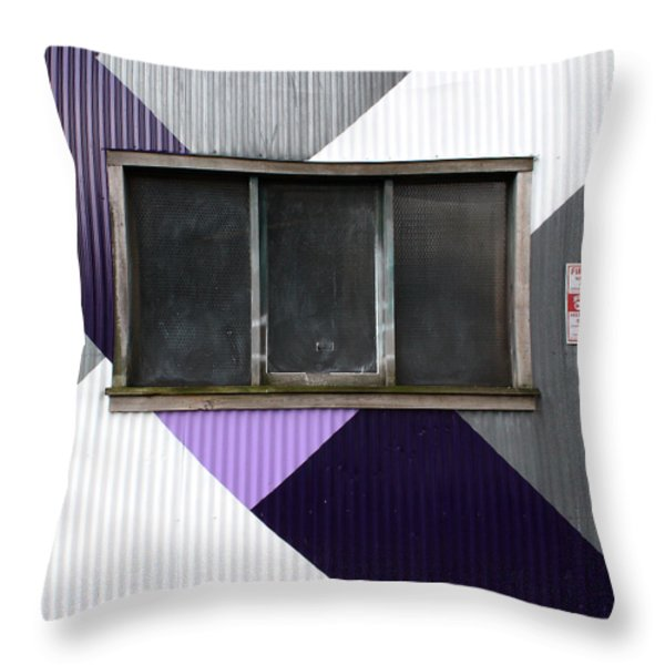 Urban Window- Photography Throw Pillow by Linda Woods