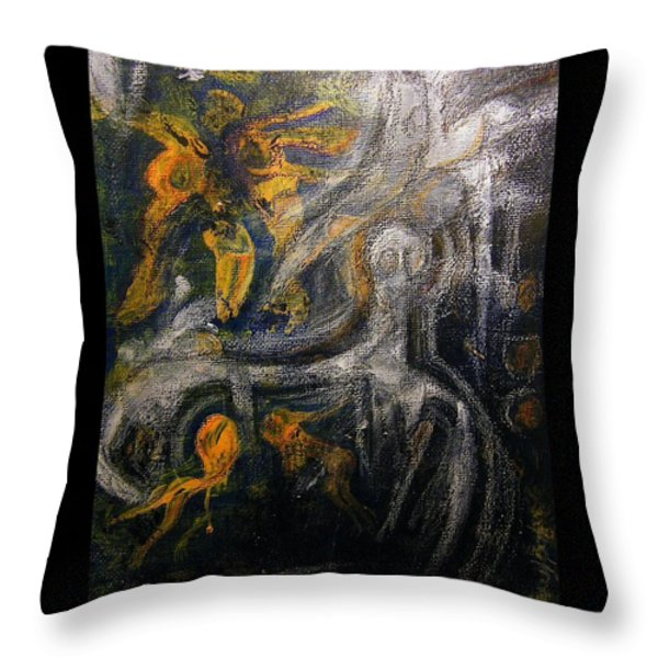 URSUPPE - PRIMEVAL SOUP Throw Pillow by Mimulux patricia no