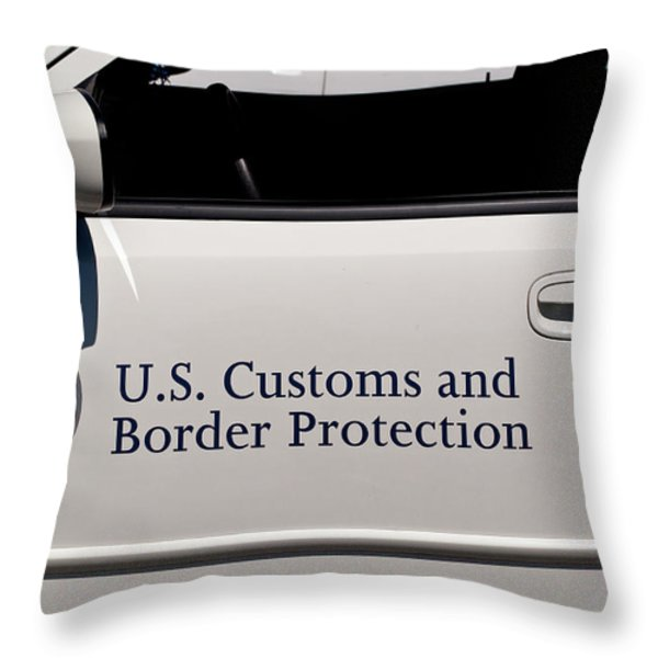 U.S. Customs and Border Protection Throw Pillow by Roger Reeves  and Terrie Heslop