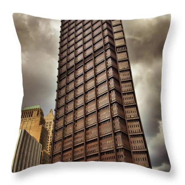 Us Steel Building Pittsburgh Hdr Throw Pillow by Amy Cicconi