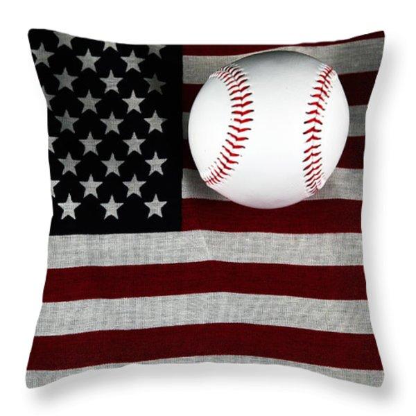 USA Throw Pillow by John Rizzuto