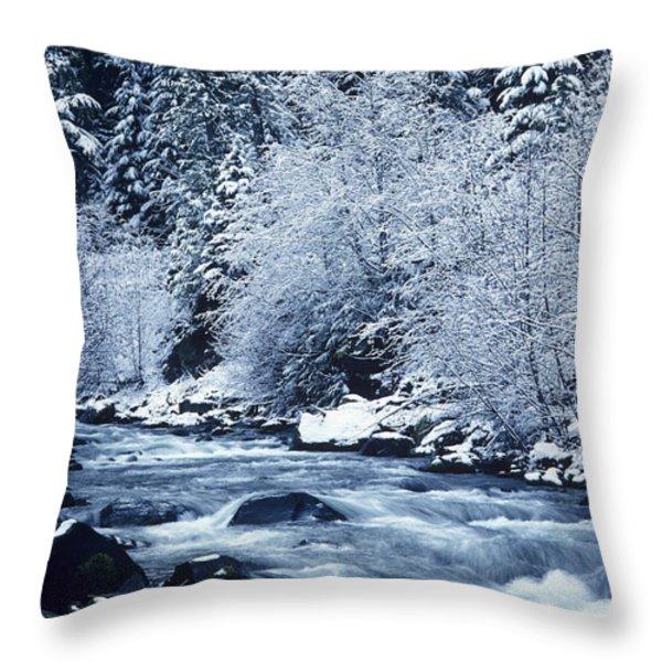 Usa, Willamette National Forest Oregon Throw Pillow by Greg Vaughn