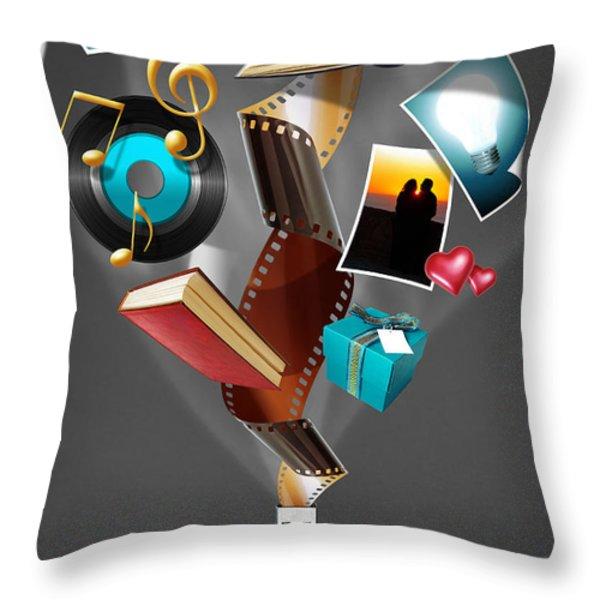 USB Drive Throw Pillow by Carlos Caetano
