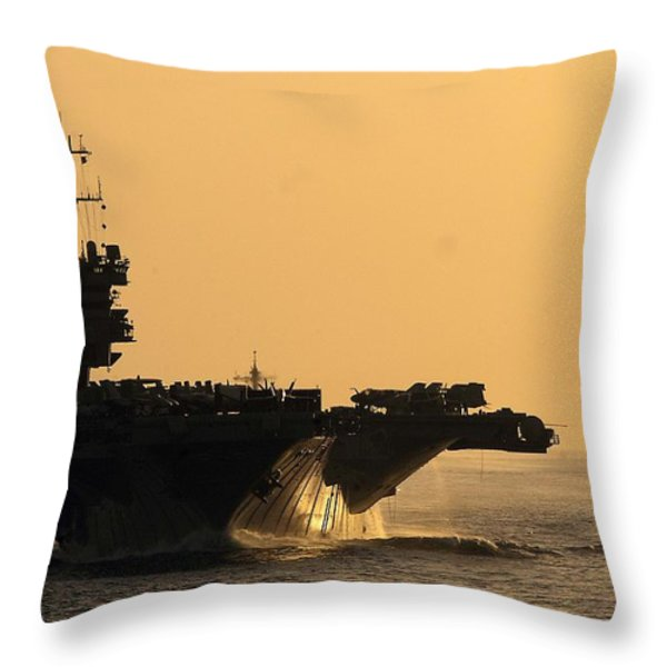 Uss Enterprise Throw Pillow by Mountain Dreams