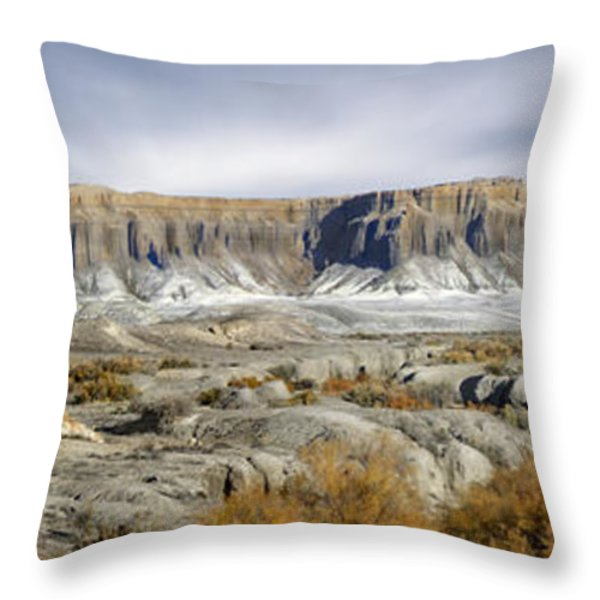 Utah Outback 43 Panoramic Throw Pillow by Mike McGlothlen