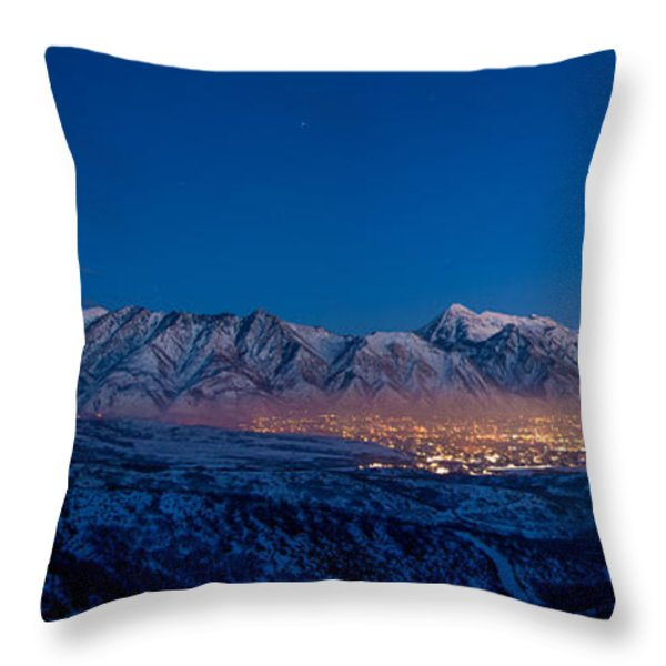 Utah Valley Throw Pillow by Chad Dutson