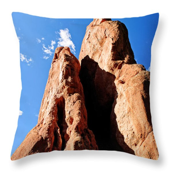 Ute Shadow Spirit Throw Pillow by Charles Dobbs