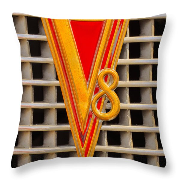 V8 Lasalle Throw Pillow by Jerry Fornarotto