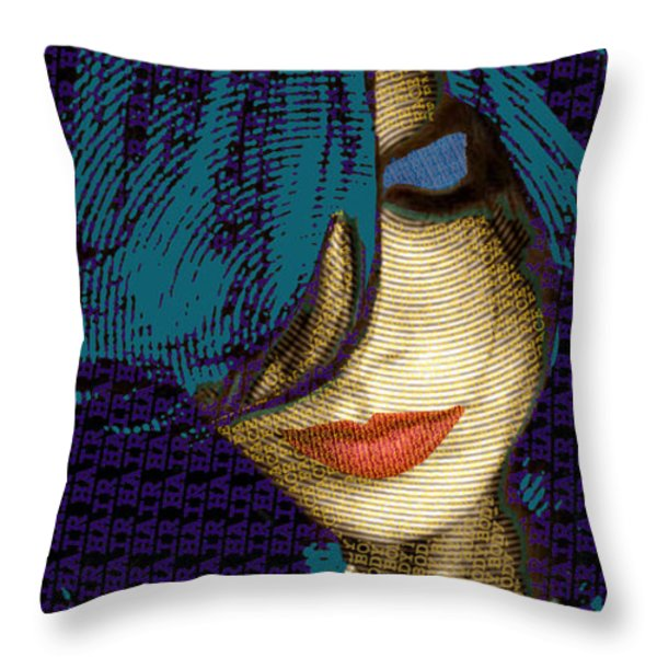 Vain 2 Throw Pillow by Tony Rubino