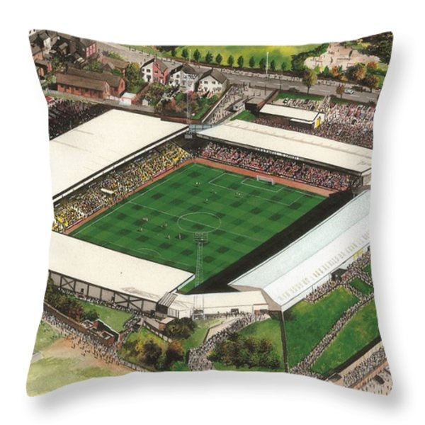 Vale Park - Port Vale Throw Pillow by Kevin Fletcher