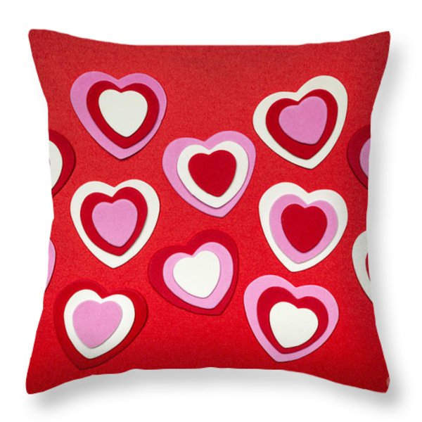 Valentines Day Hearts Throw Pillow by Elena Elisseeva