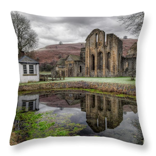 Valle Crucis Abbey Throw Pillow by Adrian Evans