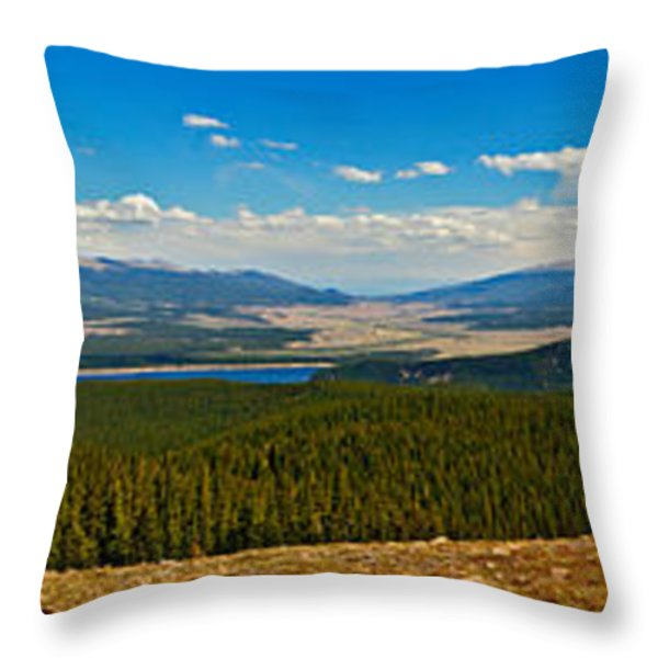Valley Of 14'ers Panorama Throw Pillow by Jeremy Rhoades