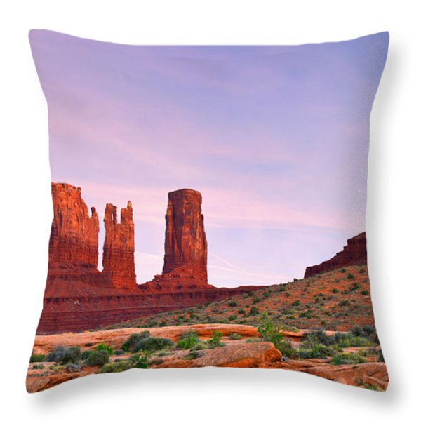 Valley of the Gods - A oasis for the soul Throw Pillow by Christine Till
