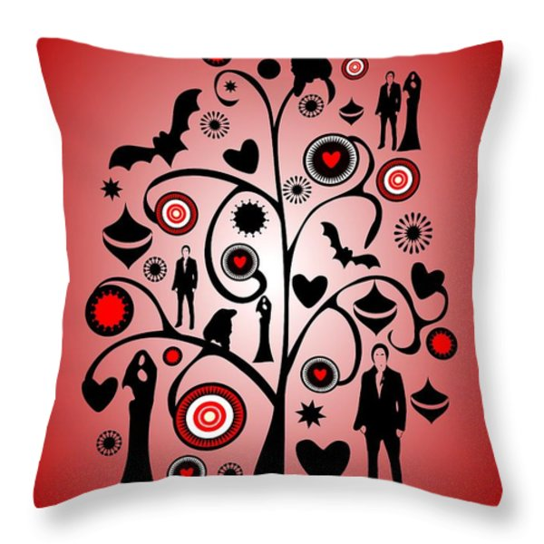 Vampire Art Throw Pillow by Anastasiya Malakhova