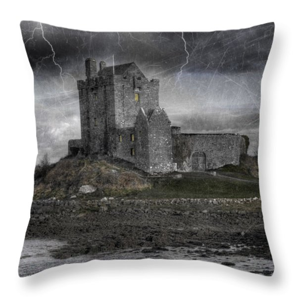 Vampire Castle Throw Pillow by Juli Scalzi
