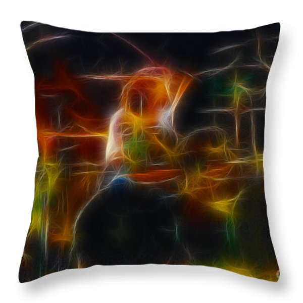 Van Halen-alex-93-gc5-fractal Throw Pillow by Gary Gingrich Galleries