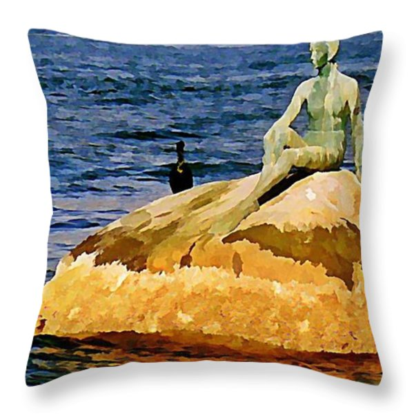 Vancouver Harbour Near Stanley Park Throw Pillow by John Malone