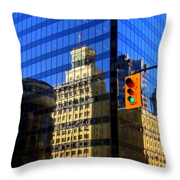 Vancouver Reflections 3 Throw Pillow by Randall Weidner