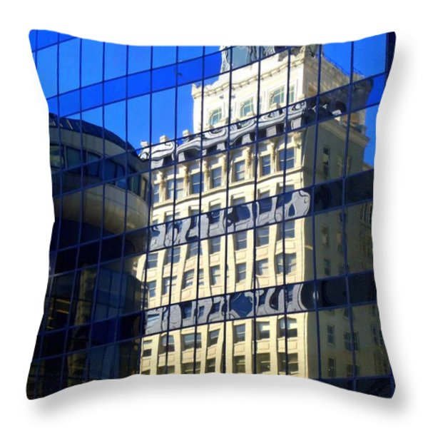 Vancouver Reflections 4 Throw Pillow by Randall Weidner