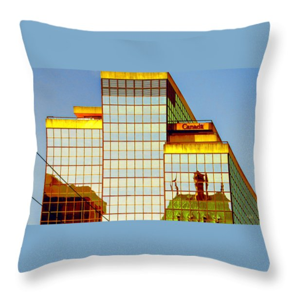 Vancouver Reflections No 2 Throw Pillow by Ben and Raisa Gertsberg