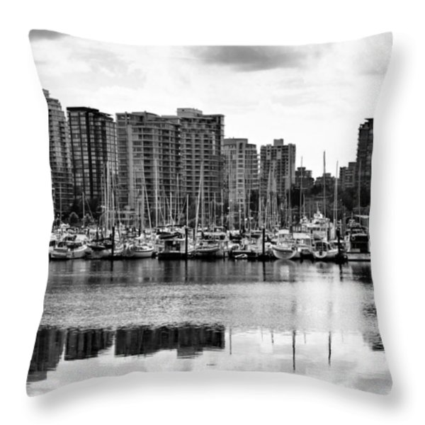 Vancouver Waterfront Throw Pillow by Jim Nelson