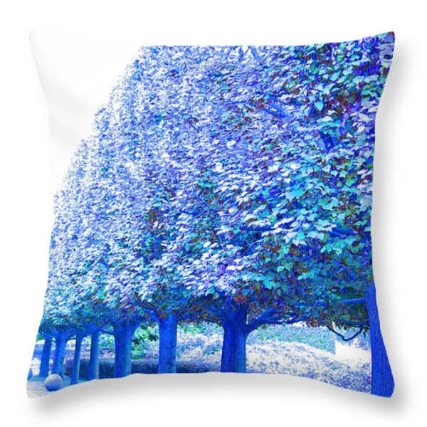 Vanishing Point Throw Pillow by First Star Art