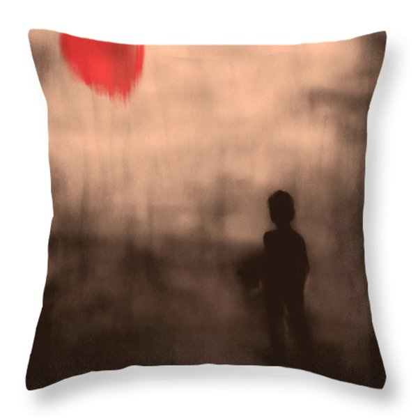 Vanishing Sun Throw Pillow by Bob Orsillo