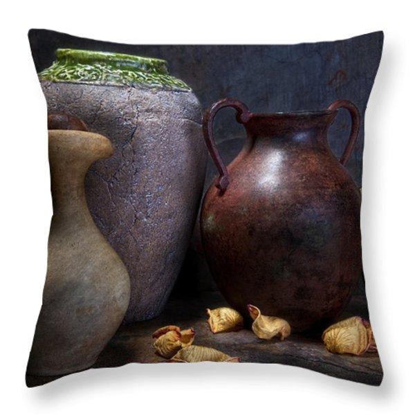 Vases and Urns Still Life Throw Pillow by Tom Mc Nemar