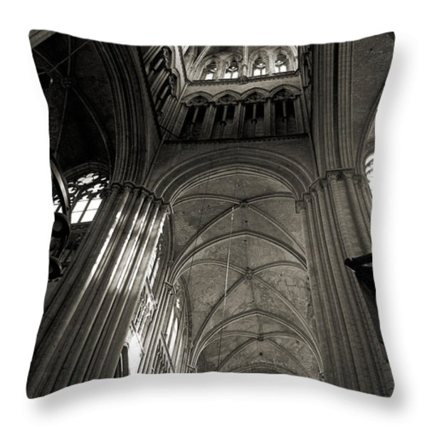 Vaults Of Rouen Cathedral Throw Pillow by RicardMN Photography