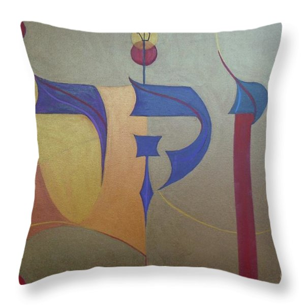 Vayikrah...and He Called Throw Pillow by Marlene Burns